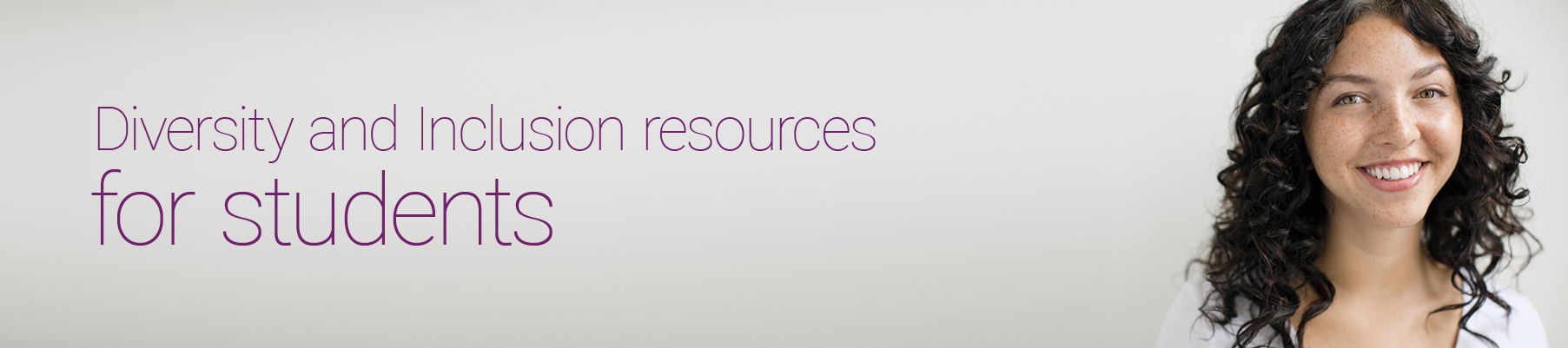 diversity and inclusion resources for students header image