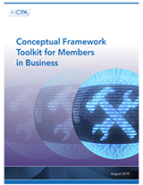 Conceptual Framework Toolkit for Members in Business (10 MB Word Doc)