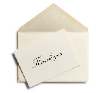 make a lasting impression through a handwritten thank you note