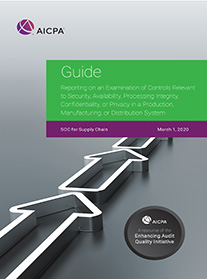 AICPA Guide SOC for Supply Chain Cover